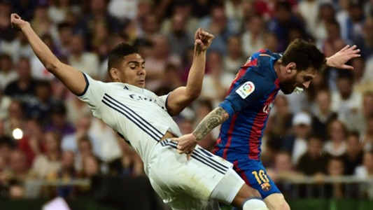 Casemiro Lionel Messi Real Madrid Barcelona LaLiga 23042017