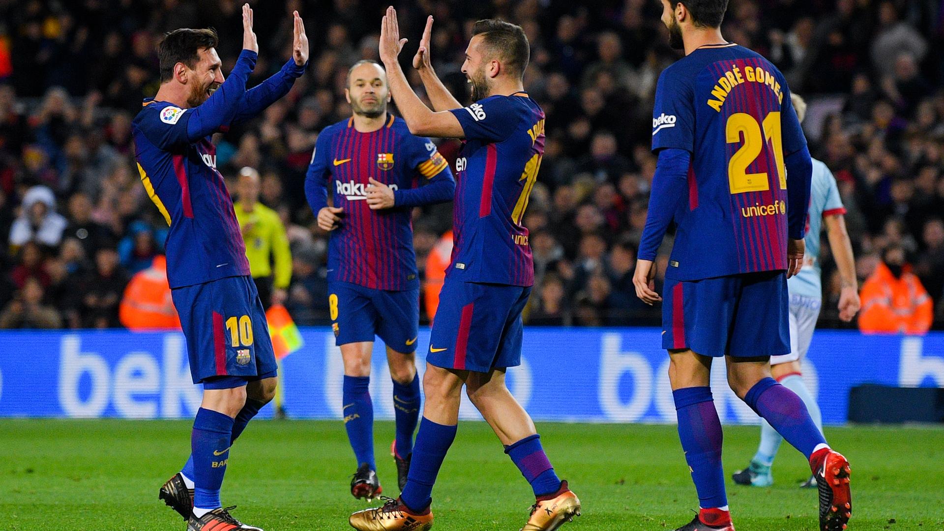 Lionel Messi Jordi Alba FC Barcelona Copa del Rey 11012018