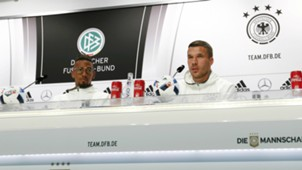 German Press Conference, Lukas Podolski and Jerome Boateng, Euro 2016 Day 5