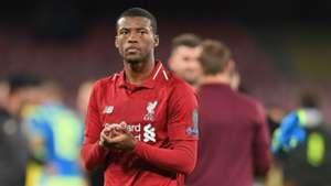 Georginio Wijnaldum Liverpool Napoli UEFA Champions League 03102018