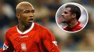 El Hadji Diouf Jamie Carragher Liverpool