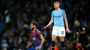 Kevin De Bruyne Andros Townsend Manchester City vs Crystal Palace Premier League 2018-19
