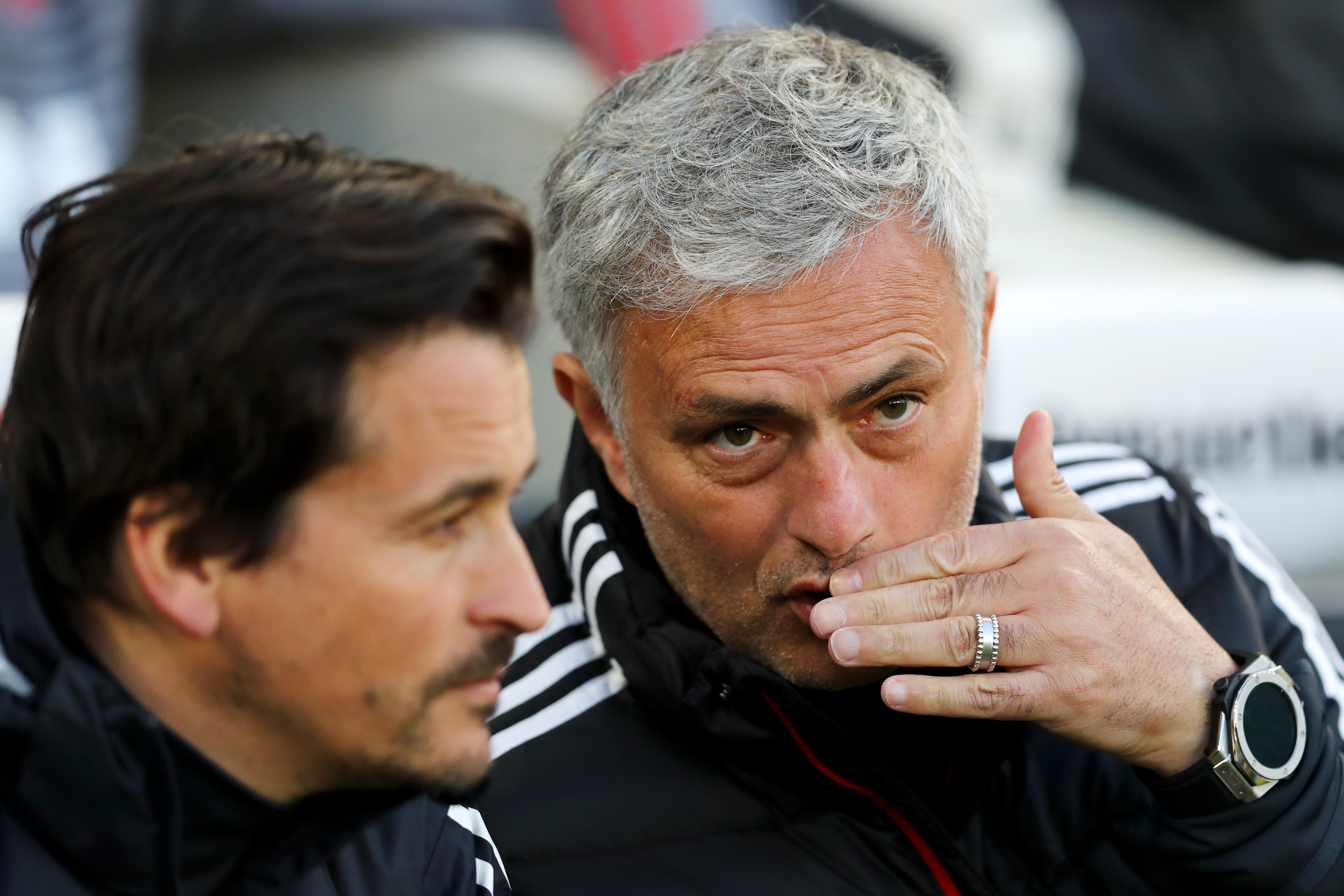 Jose Mourinho Rui Faria Manchester United