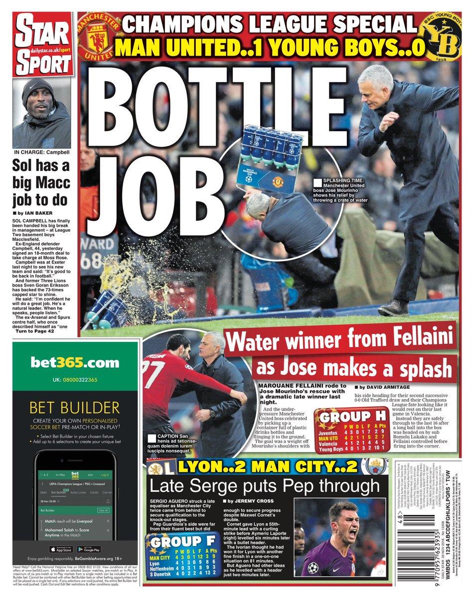revue de presse le craquage de jos mourinho a amus les journaux anglais. Black Bedroom Furniture Sets. Home Design Ideas
