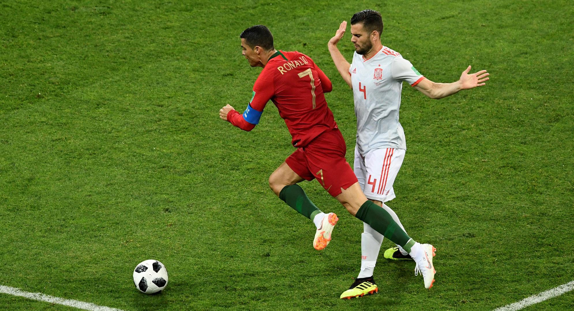 Cristiano Ronaldo Nacho España Portugal Copa del Mundo 2018