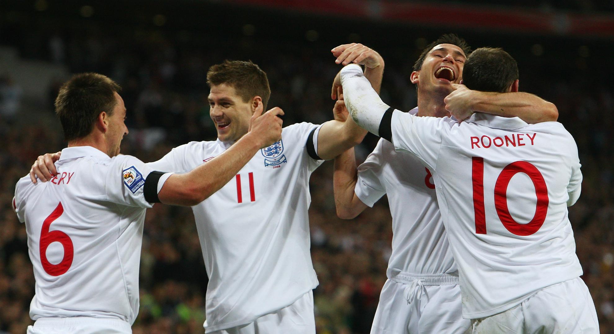 Wayne RooneyFrank Lampard John Terry Steven Gerarrd