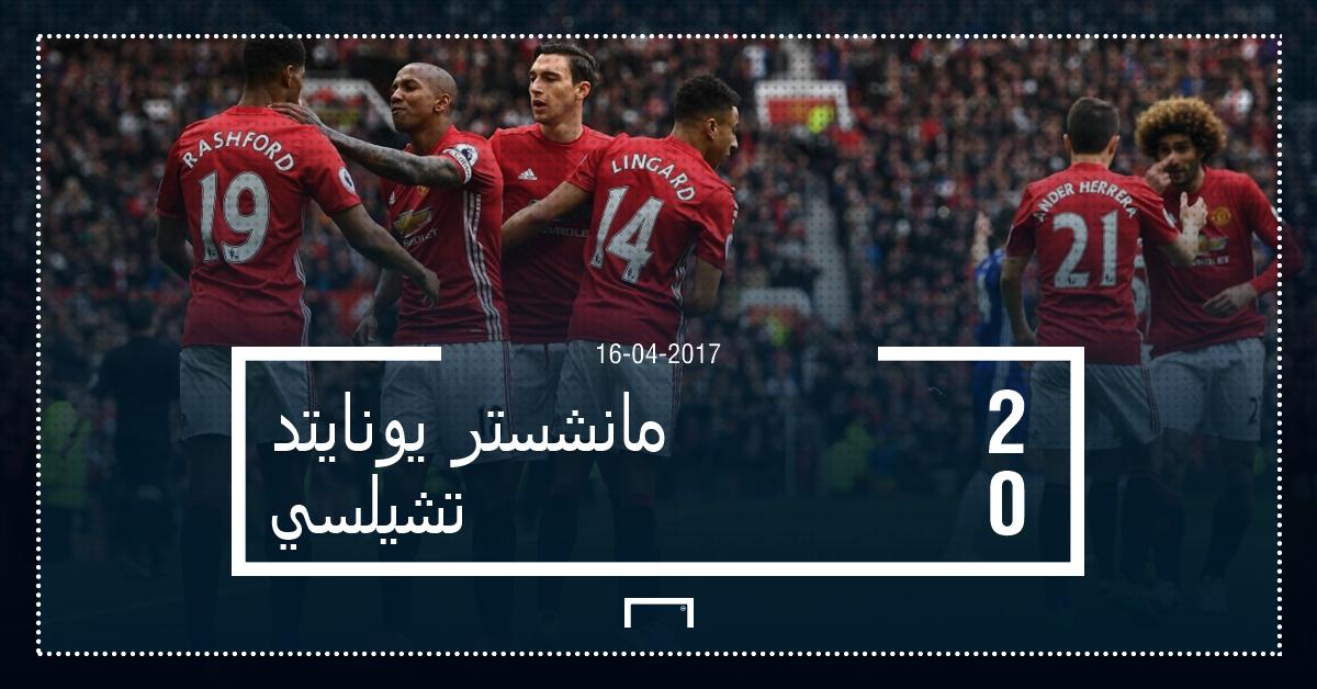 Arabic GFX Manchester united vs chelsea