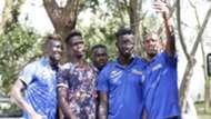 Francis Kahata Philemon Otieno of Gor Mahia John Avire of Sofapaka and Farouk Shikalo of Bandari and Harambee Stars.