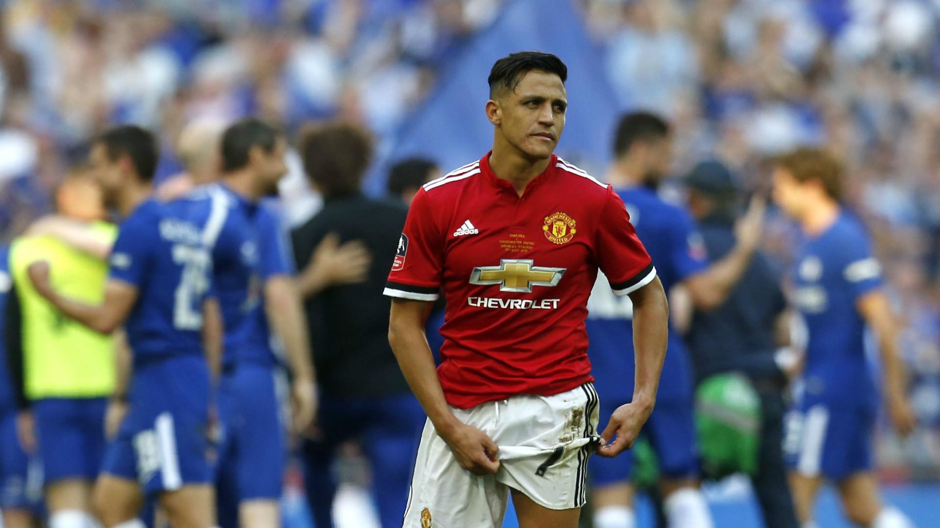 Alexis Sanchez Manchester United vs Chelsea FA Cup