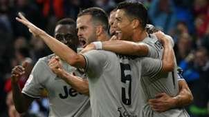 Juventus celebrating Udinese Juventus Serie A