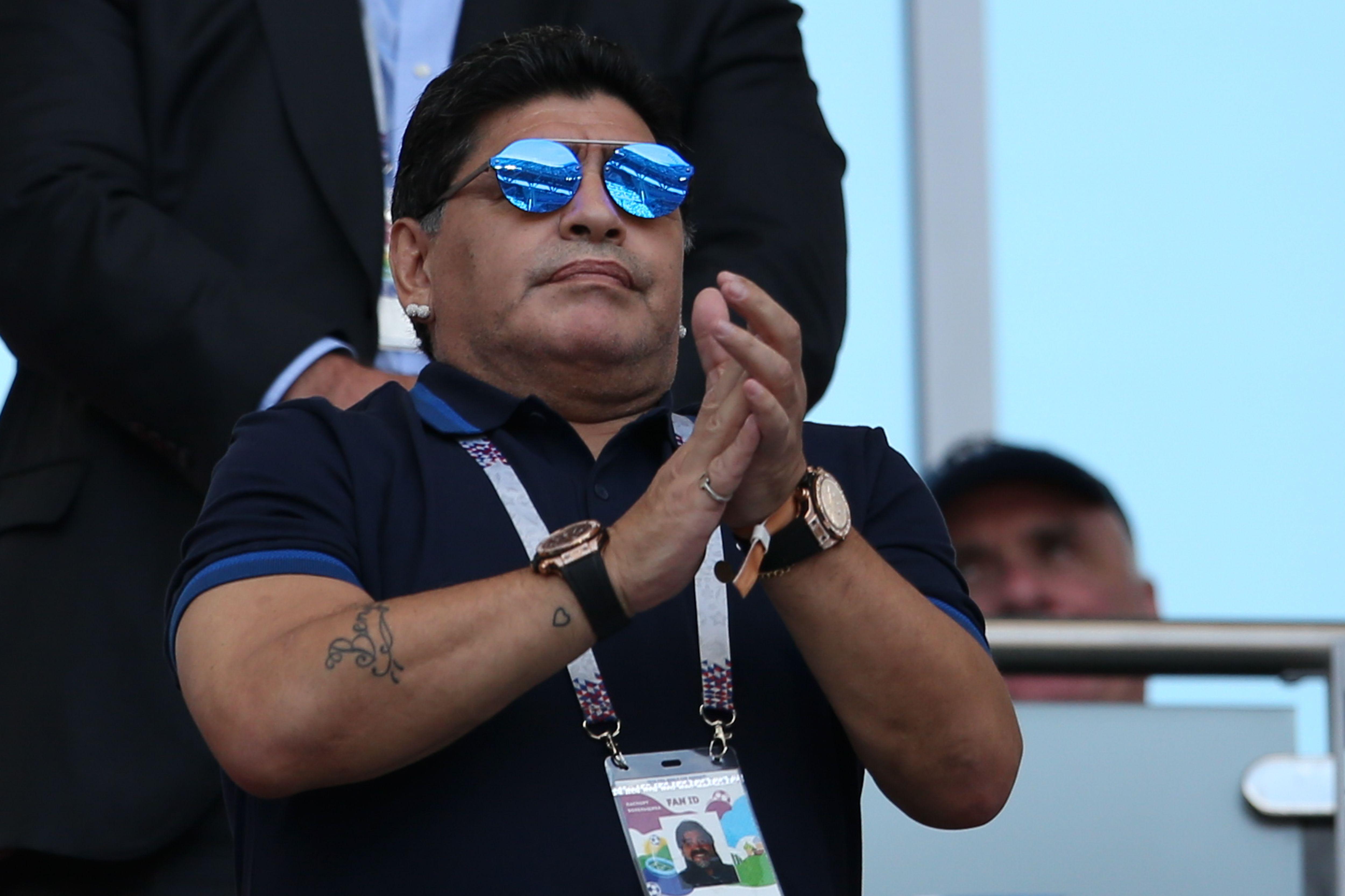 Maradona France Argentina World Cup