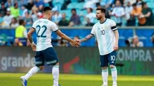 Lionel Messi Lautaro Martinez Argentina Qatar Copa America 23062019
