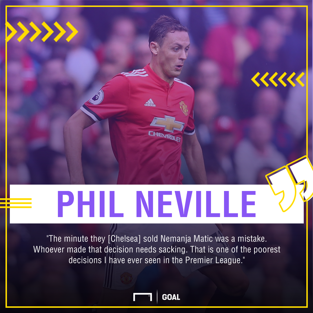 Phil Neville Nemanja Matic Chelsea mistake sacking