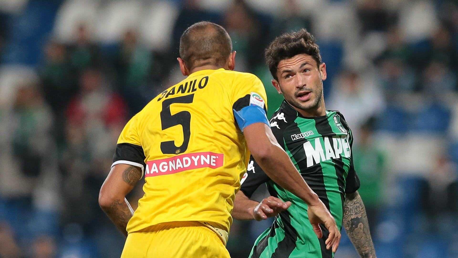Danilo, Stefano Sensi, Sassuolo, Udinese, Serie A, 25102017