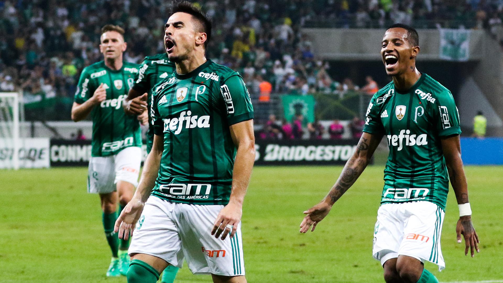 Willian Bigode Tche Tche Palmeiras Atletico Tucuman Libertadores 24052017
