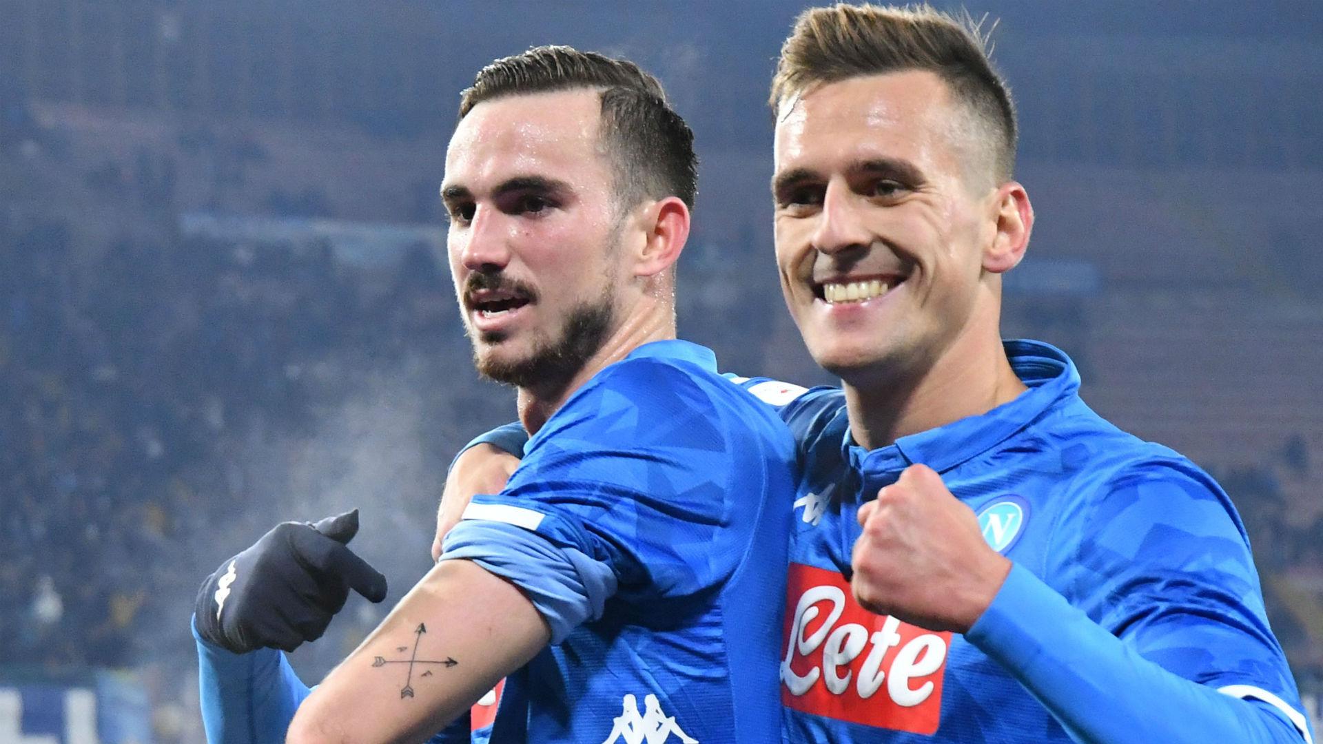 Fabian Ruiz Arek Milik Napoli Sassuolo Coppa Italia