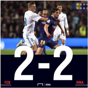 Barcelona Real Madrid score