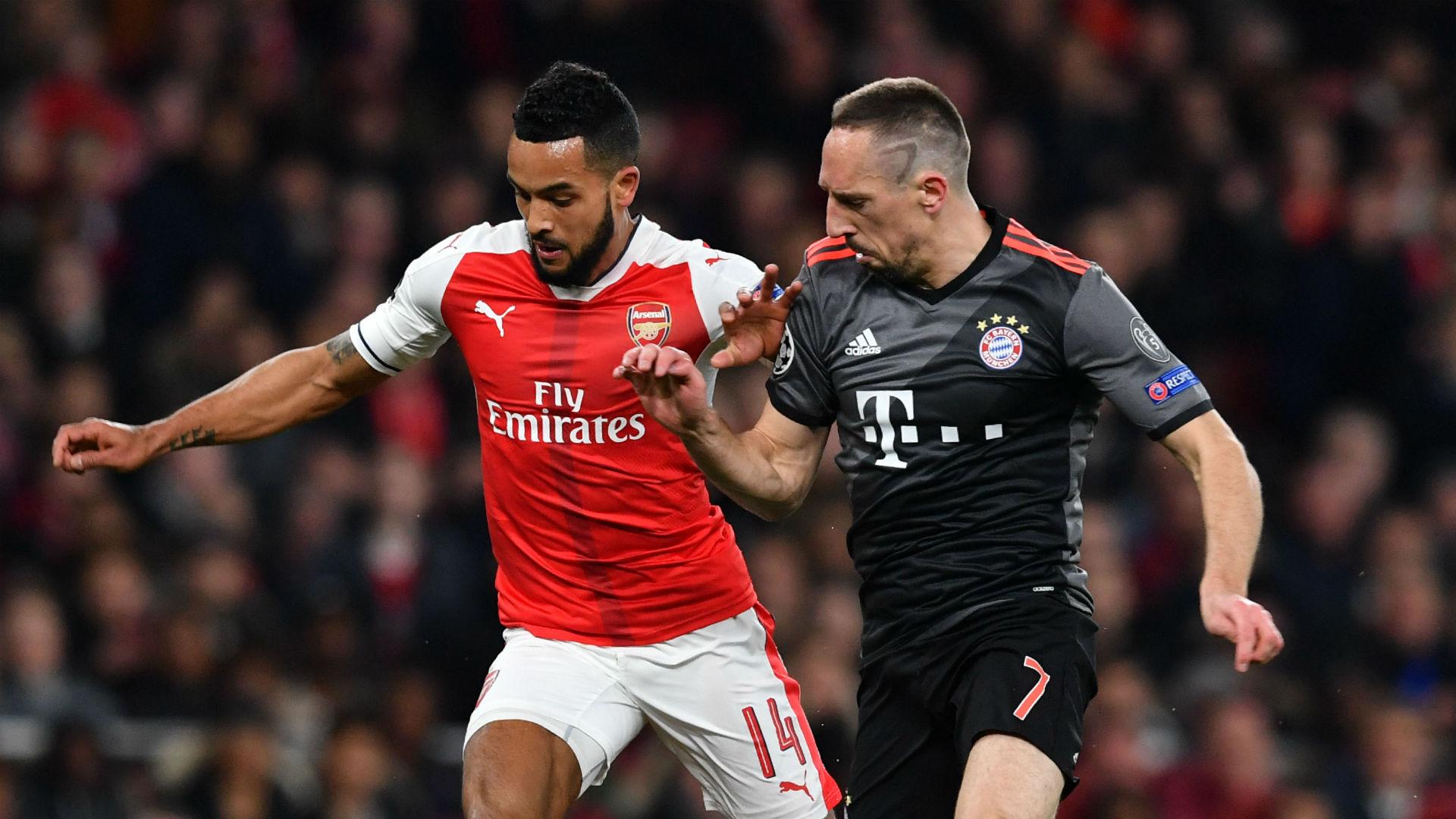 Theo Walcott Franck Ribery Arsenal Bayern Munich