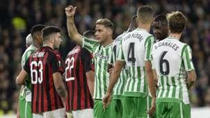 Patrick Cutrone Joaquin Betis Siviglia Milan Europa League