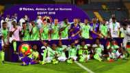 Nigeria players celebrate after winning the Acon 2019 Third place play-off