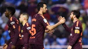 Dembele Alba Busquets Messi Barcelona Deportivo de La Coruña LaLiga