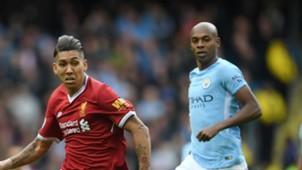 Roberto Firmino Fernandinho Liverpool Manchester City 09092017