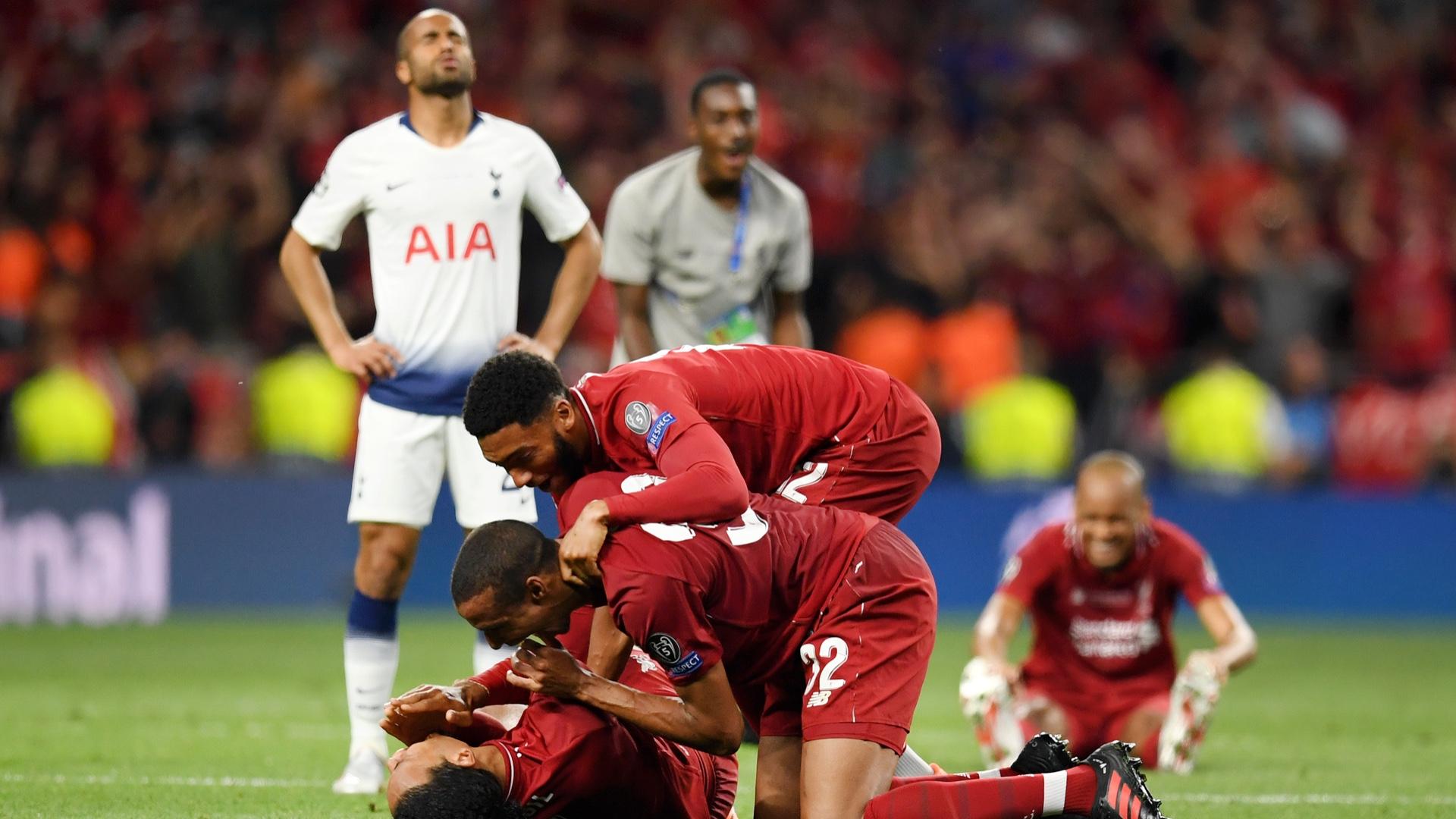 Joe Gomez Joel Matip Virgil Van Dijk Liverpool 2019