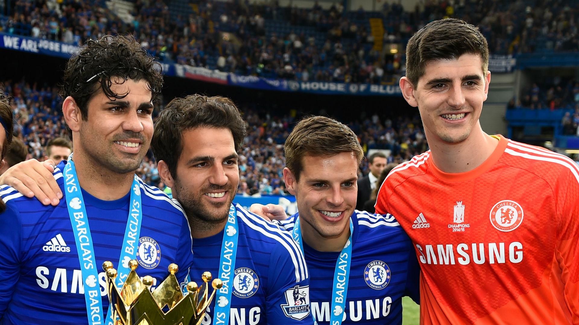 Diego Costa Cesc Fabregas Cesar Azpilicueta Thibaut Courtois Chelsea