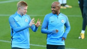 Kevin De Bruyne Fabian Delph Manchester City