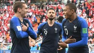 Griezmann Giroud Mbappé França Copa do Mundo 16 07 2018