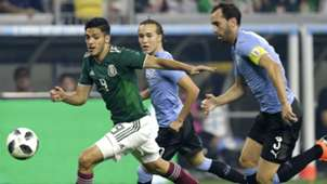 Raul Jimenez Diego Godin Mexico Uruguay 2018
