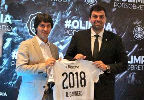 Olimpia le extendió el contrato a Garnero