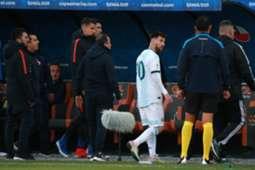 Messi é expulso contra o Chile