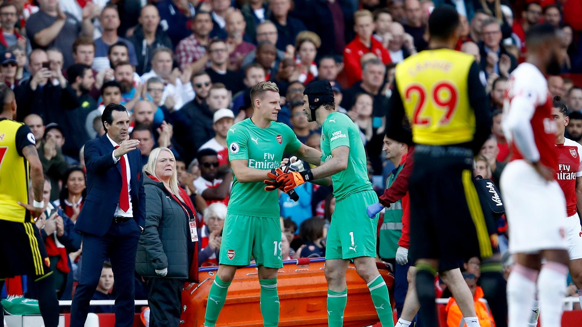 Bernd Leno Petr Cech Arsenal 2018/19