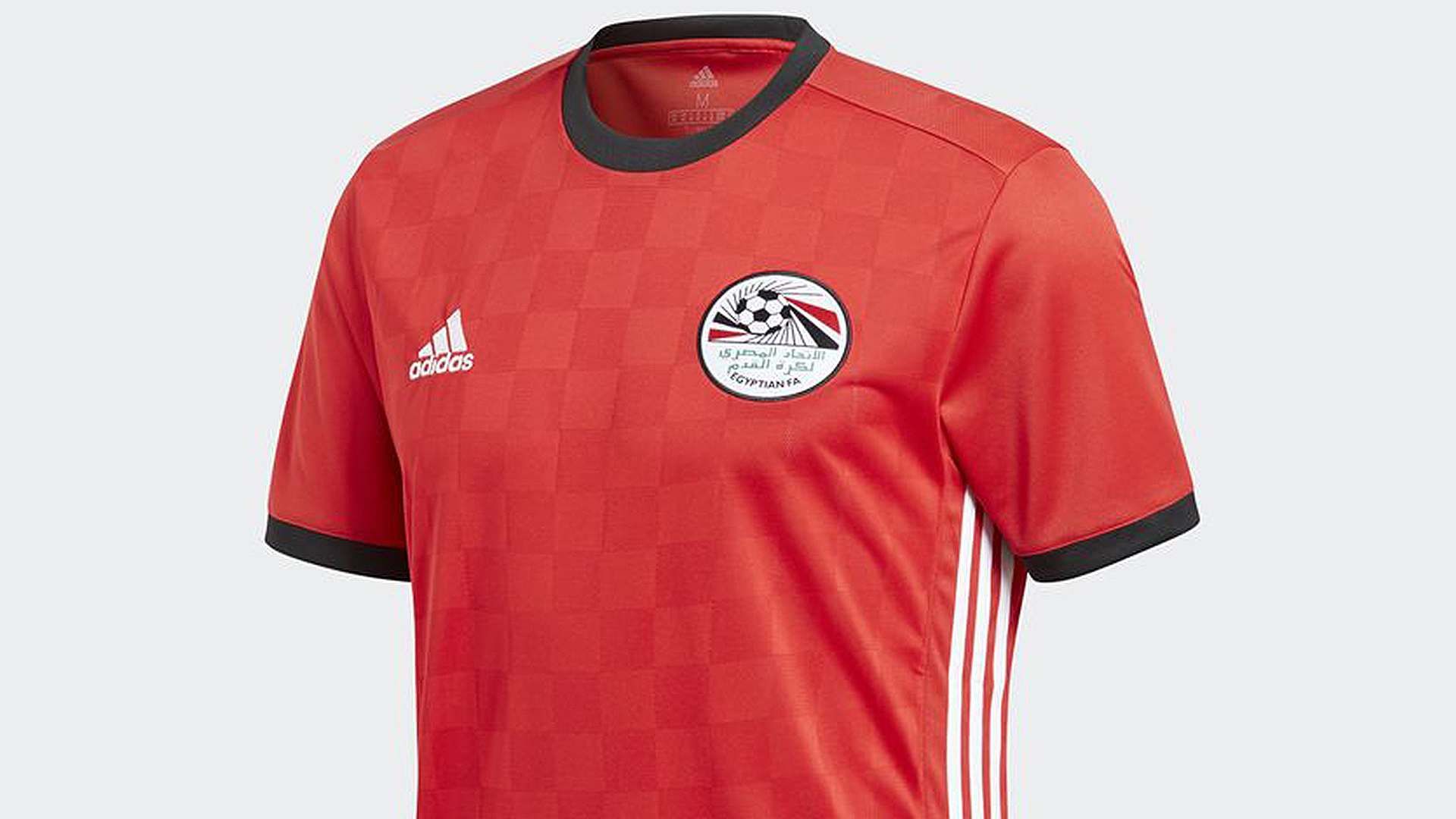 2852f2436d7 Egypt s kits for the World Cup will be made by Adidas and they have changed  somewhat from the previous edition.