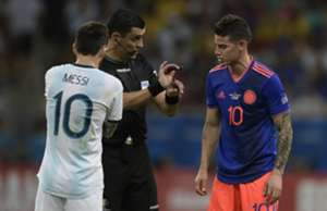 James Rodriguez Lionel Messi Argentina Colombia Copa América 2019