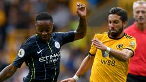 Raheem Sterling Joao Moutinho Manchester City Wolves 2018-19