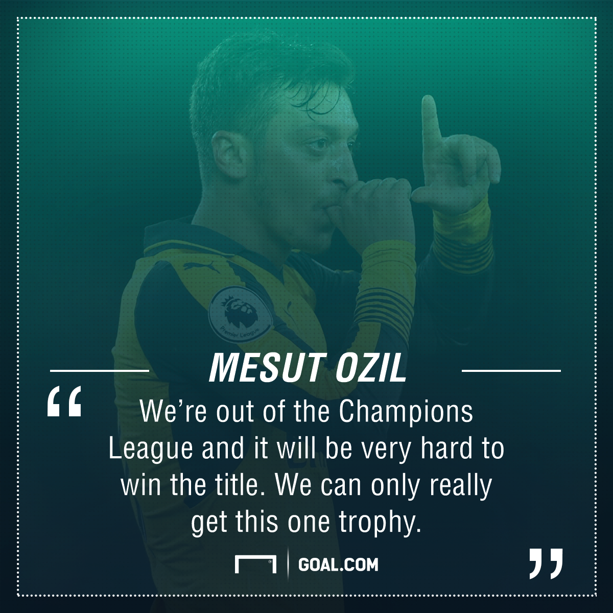 Mesut Ozil Arsenal FA Cup