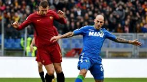 Edin Dzeko Paolo Cannavaro Roma Sassuolo Serie A