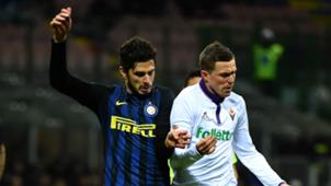Andrea Ranocchia Josip Ilicic Inter Fiorentina