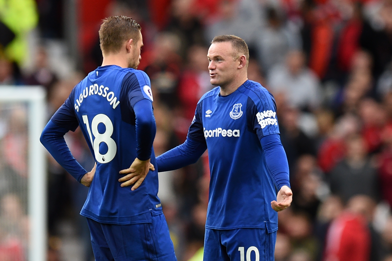 Gylfi Sigurdsson Wayne Rooney Manchester United Everton 09/17/17