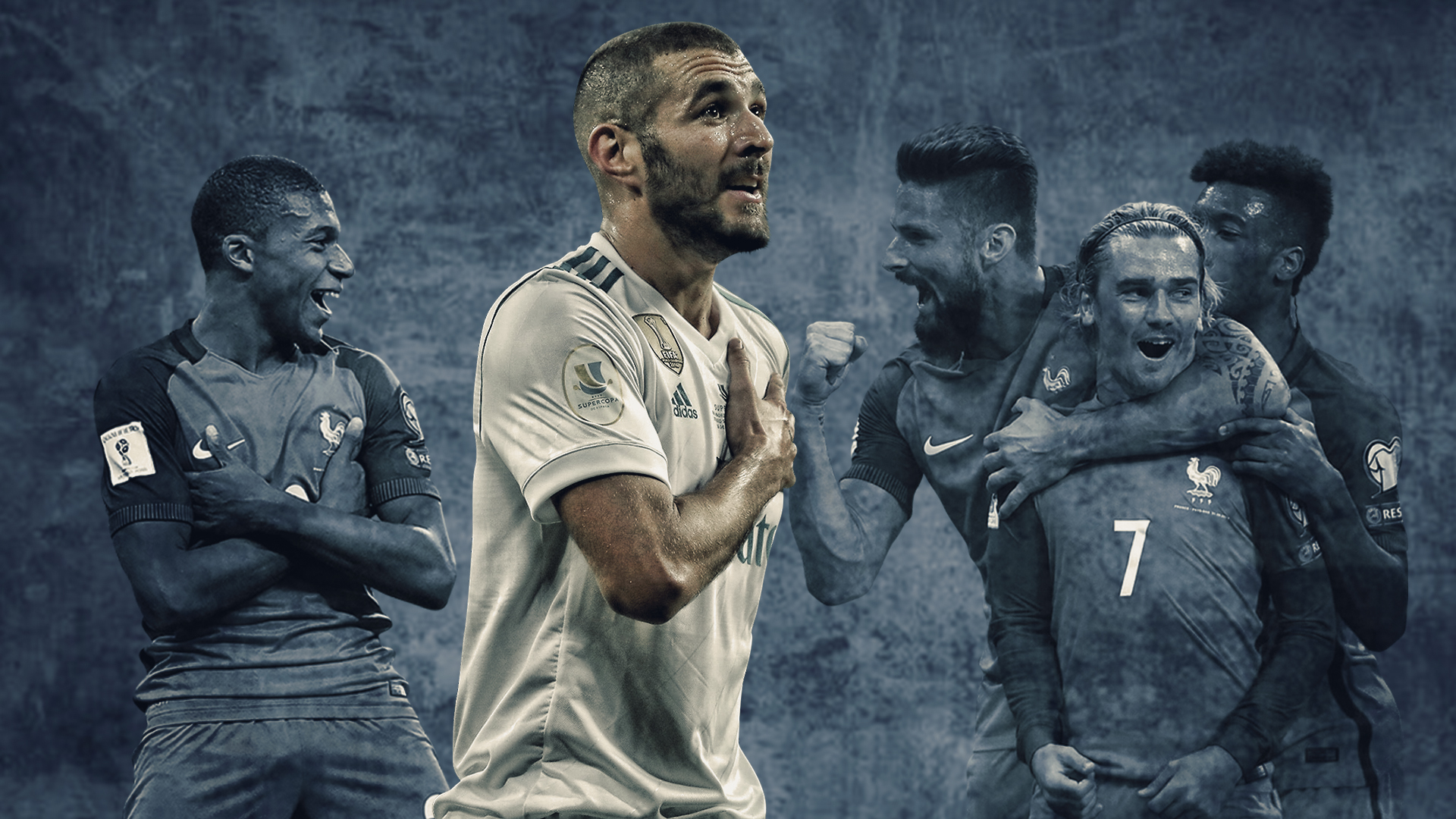 GFX Info Karim Benzema and the rest of France atackers