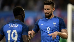 Olivier Giroud Bacary Sagna France Scotland Friendly 04062016