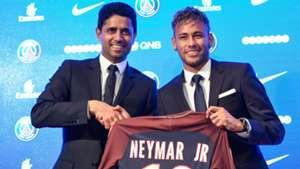 Neymar Nasser Al-Khelaifi PSG 04082017