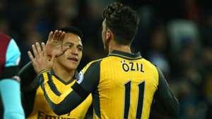 Alexis Sanchez Mesut Ozil Arsenal Premier League