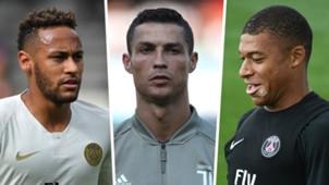 Neymar Ronaldo Mbappe Split