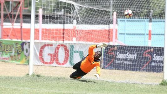 Tusker's Duncan Ochieng' concede goal against Nzoia Sugar