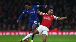 Willian Aubameyang Arsenal Chelsea 19012019
