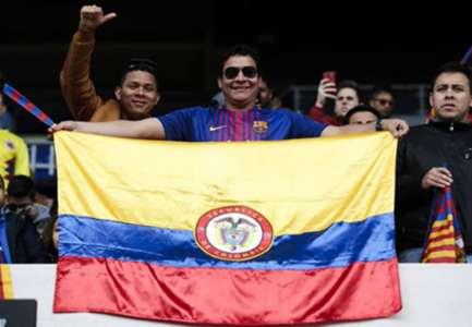 Yerry Mina Barcelona colombianos en el Camp Nou