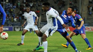 Moeketsi Sekola of Chippa United against SuperSport United